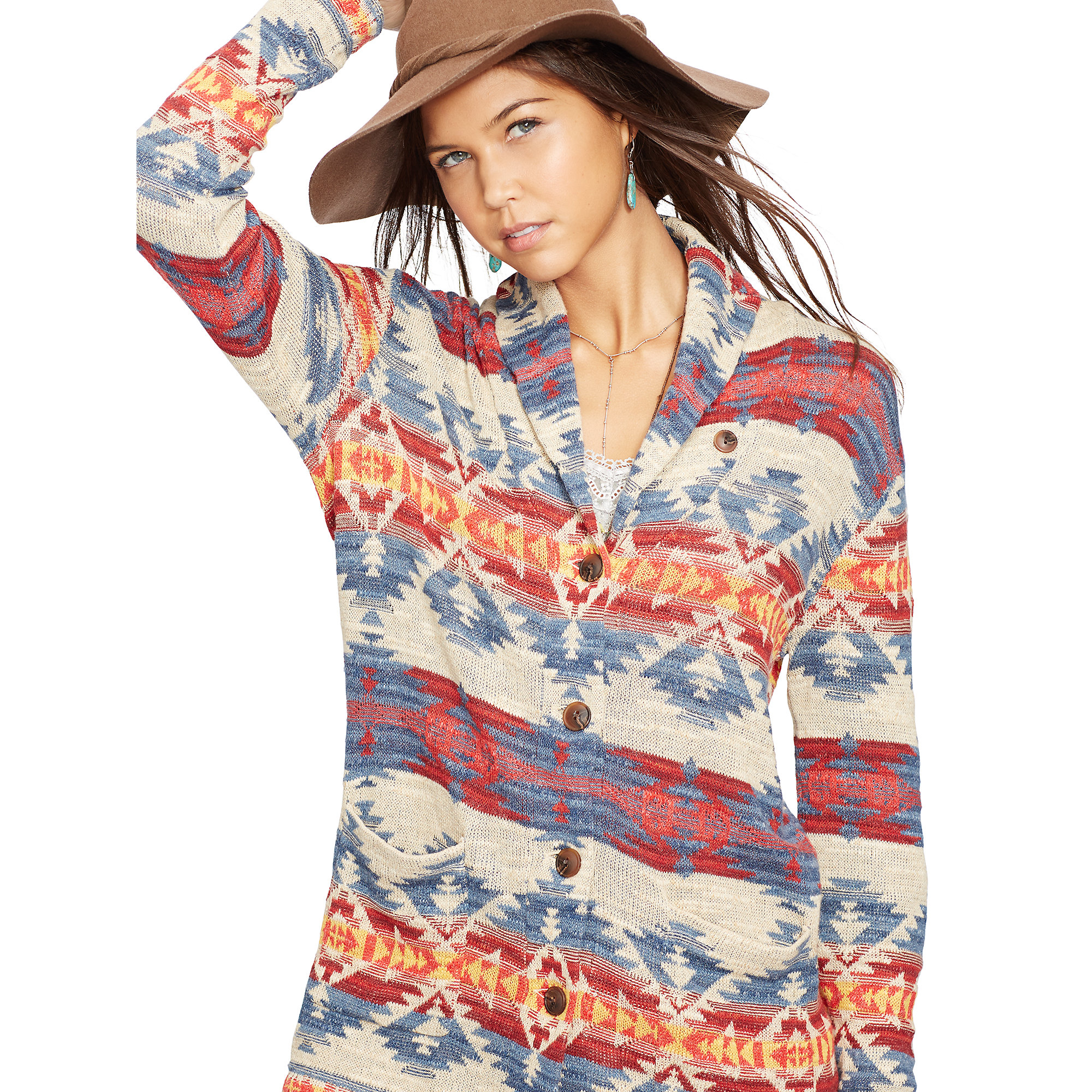 Denim & supply ralph lauren Cotton Boyfriend Cardigan | Lyst