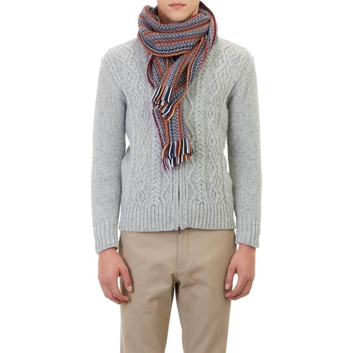 s tweedy stripe scarf in for lyst