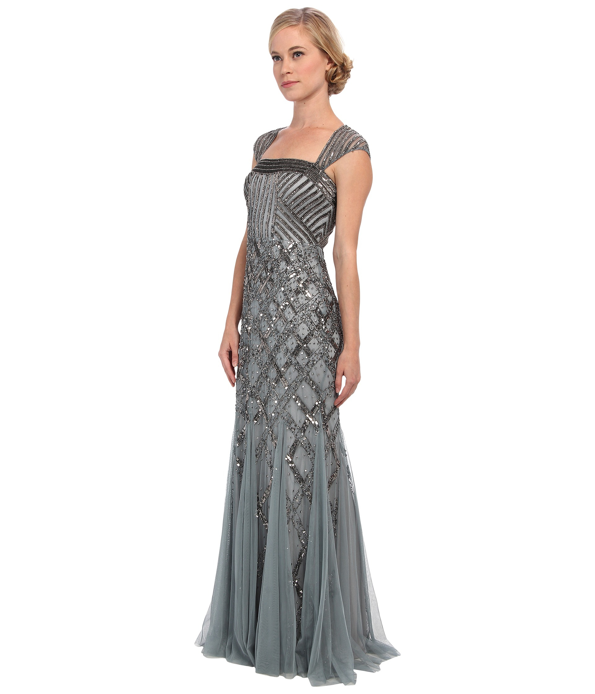 Adrianna papell gown short sleeve deco - Gallery