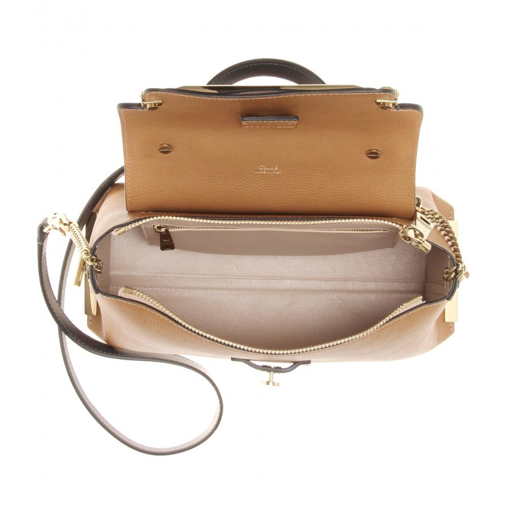 Chlo�� Clare Medium Leather Shoulder Bag in Brown | Lyst