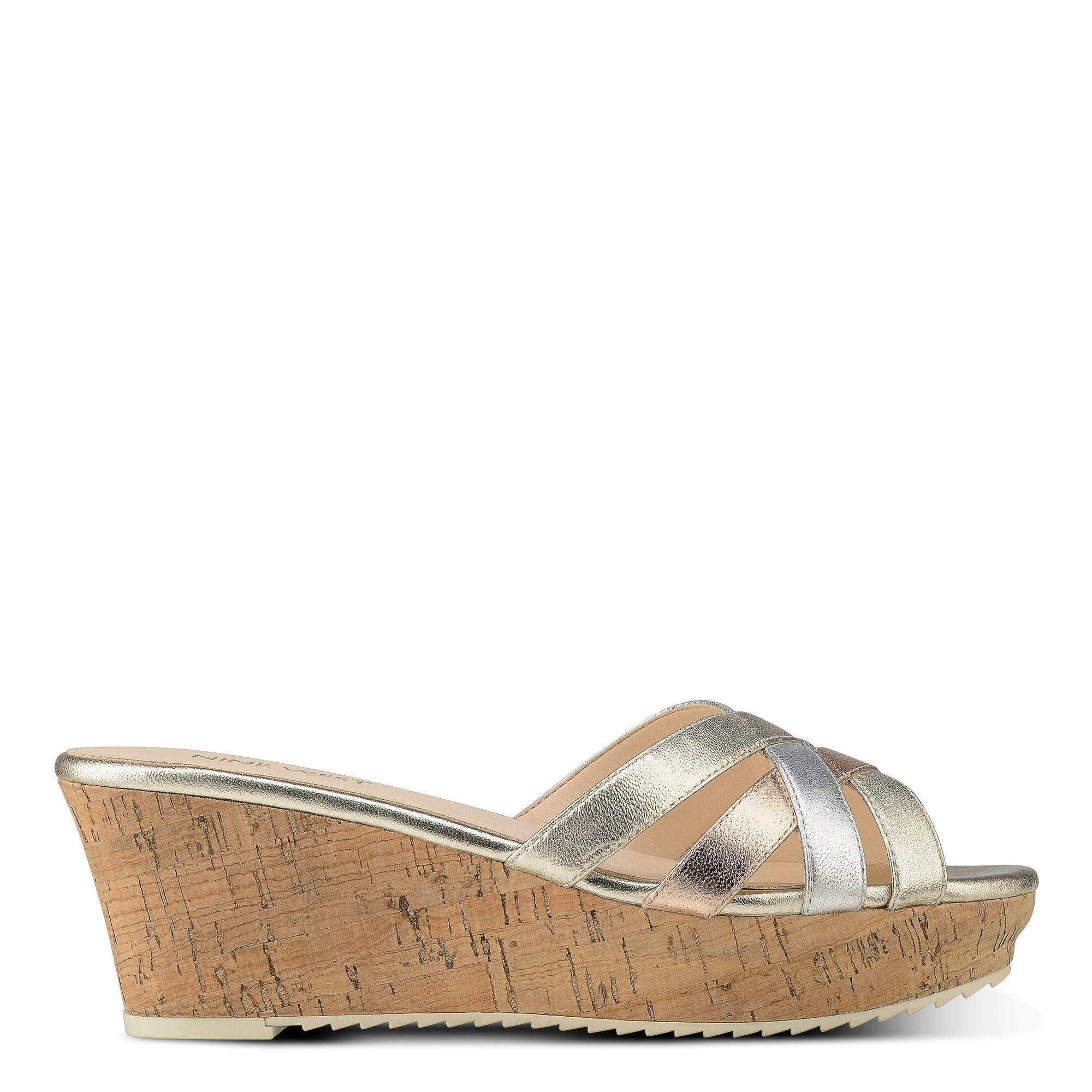 ce9ab2b94bed Lyst - Nine West Caserta Wedge Sandals in Natural