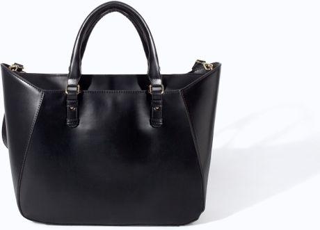 Zara Shopper Bag Black Black Zara Shopper Basket