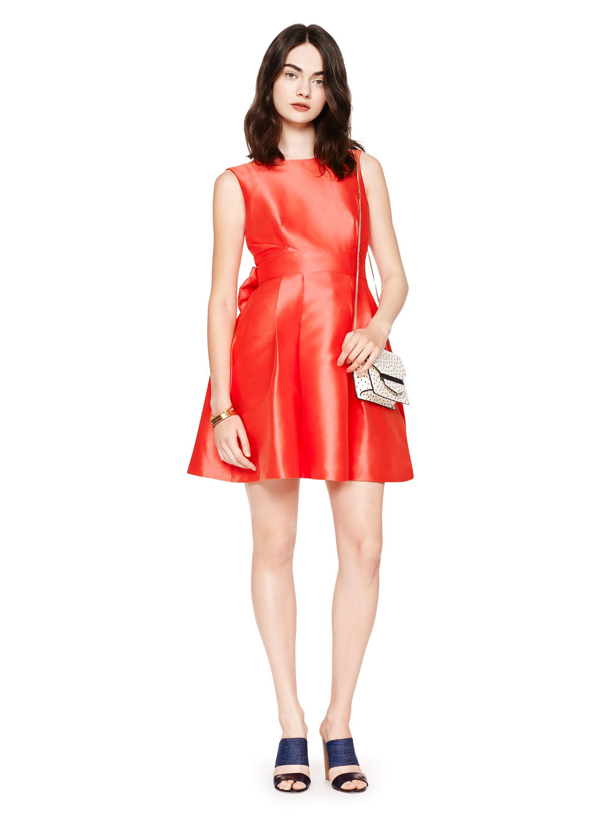 3b170921c43 Kate Spade New York Open Back Silk Mini Dress in Red - Lyst