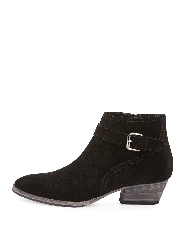 aquatalia suede ankle boot in black lyst