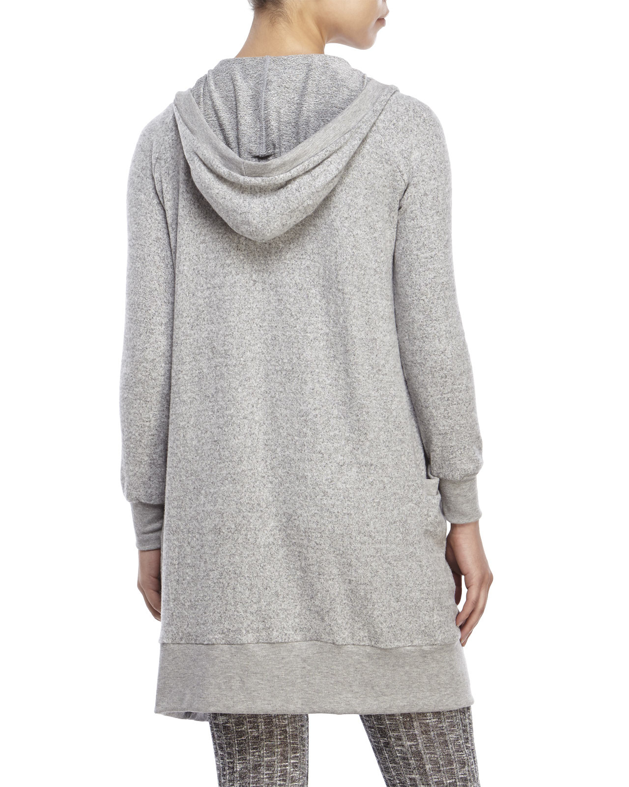 Ppla Hooded Cardigan in Gray | Lyst
