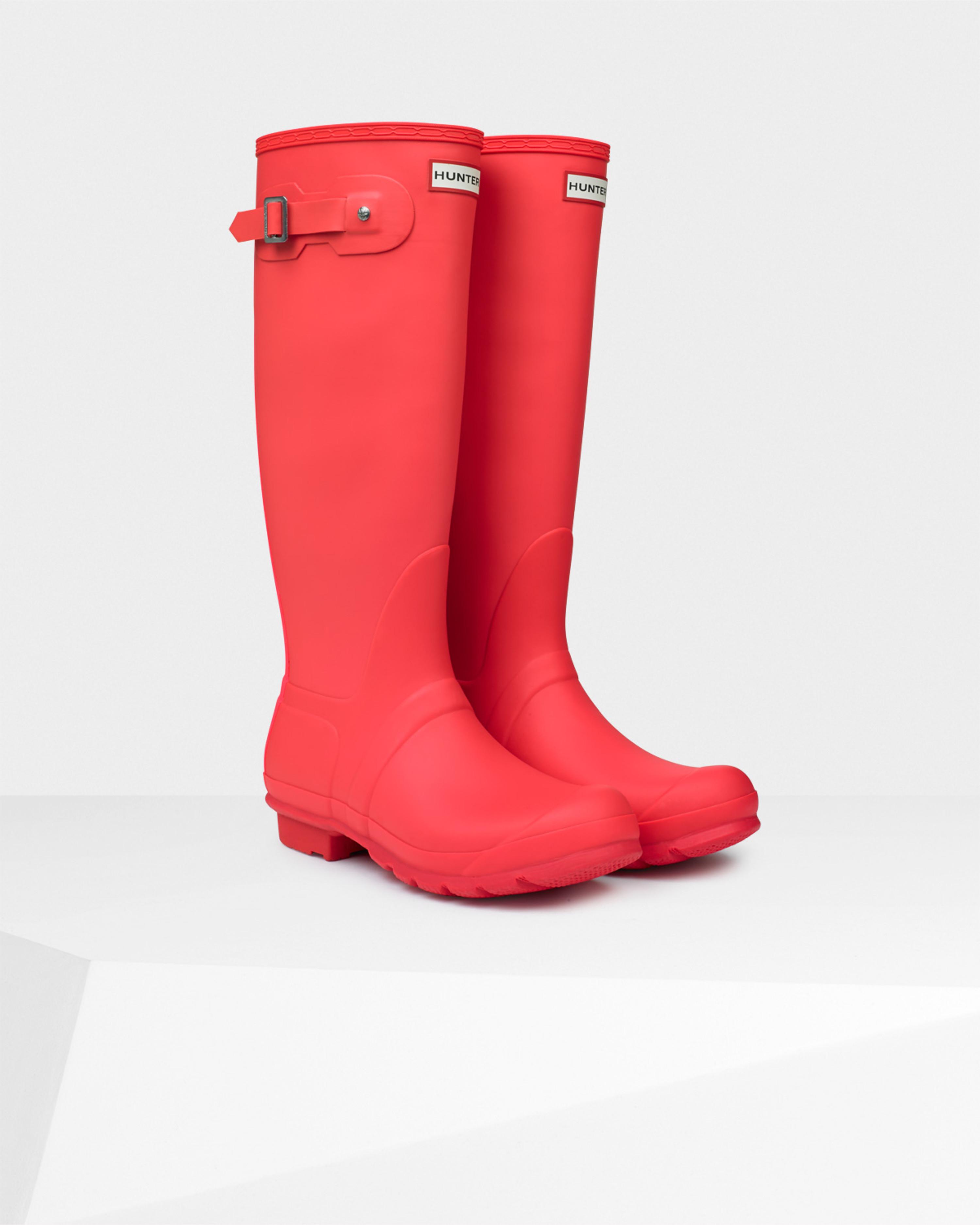 Hunter Women's Original Stripe Rain Boots in Pink | Lyst