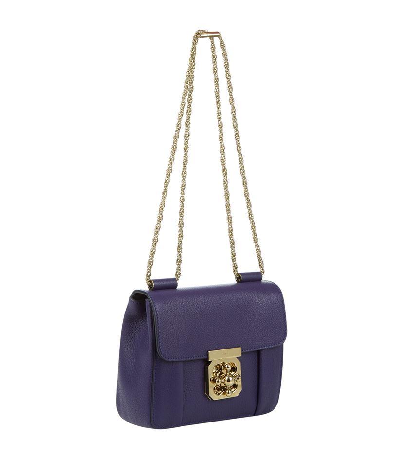Chlo¨¦ Small Elsie Shoulder Bag in Purple | Lyst