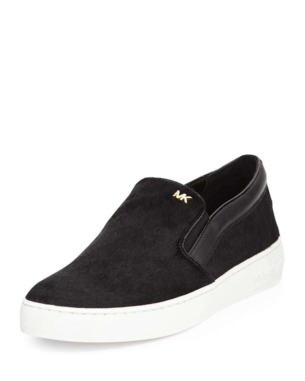 4a9fe6881a38d Lyst - MICHAEL Michael Kors Keaton Calf Hair Slip-On Sneaker in Black