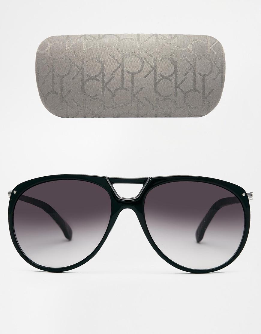 08612dab409 Lyst - Calvin Klein Ck Aviator Sunglasses in Black for Men