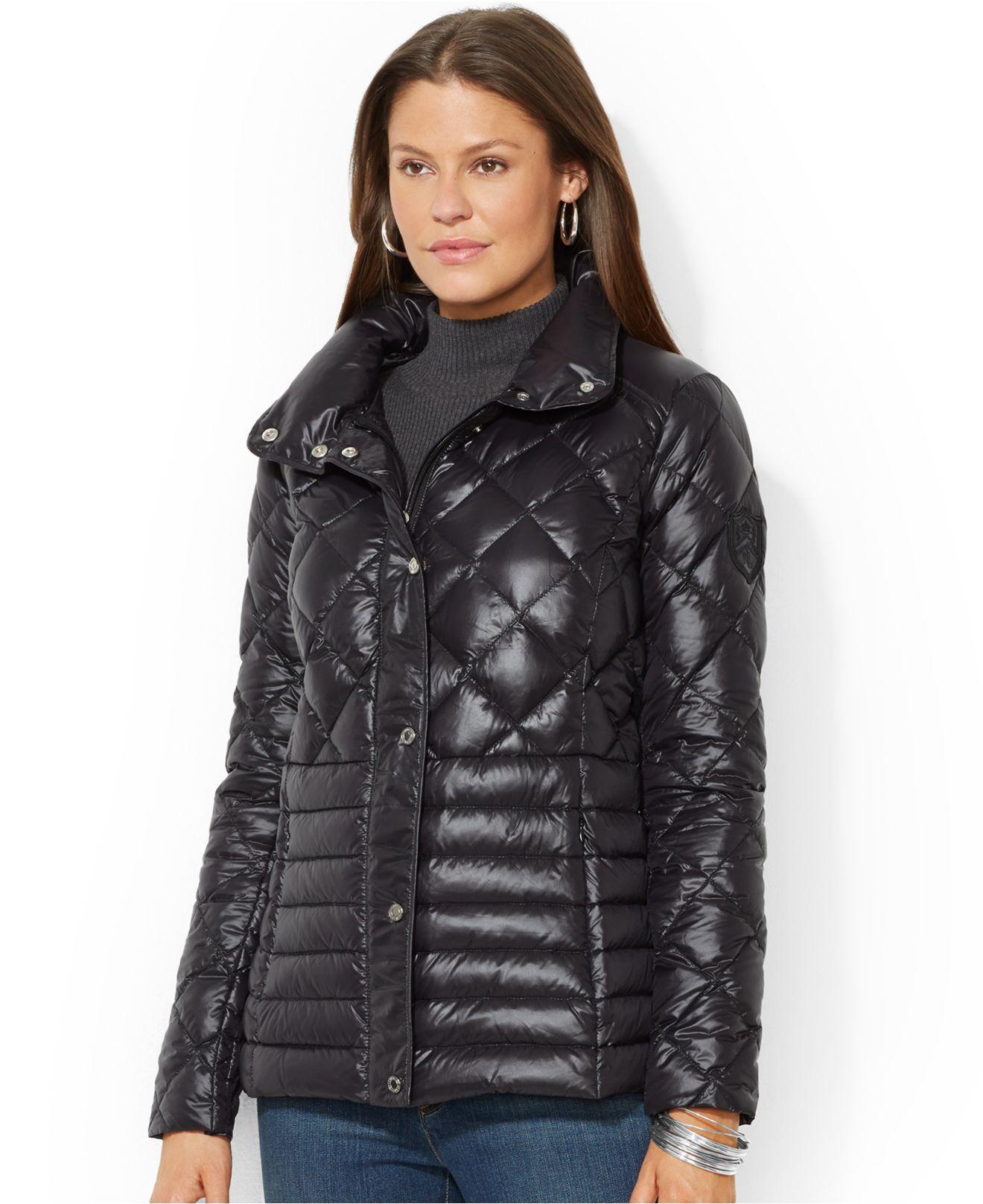 Lauren By Ralph Lauren Quilted Packable Down Barn Jacket