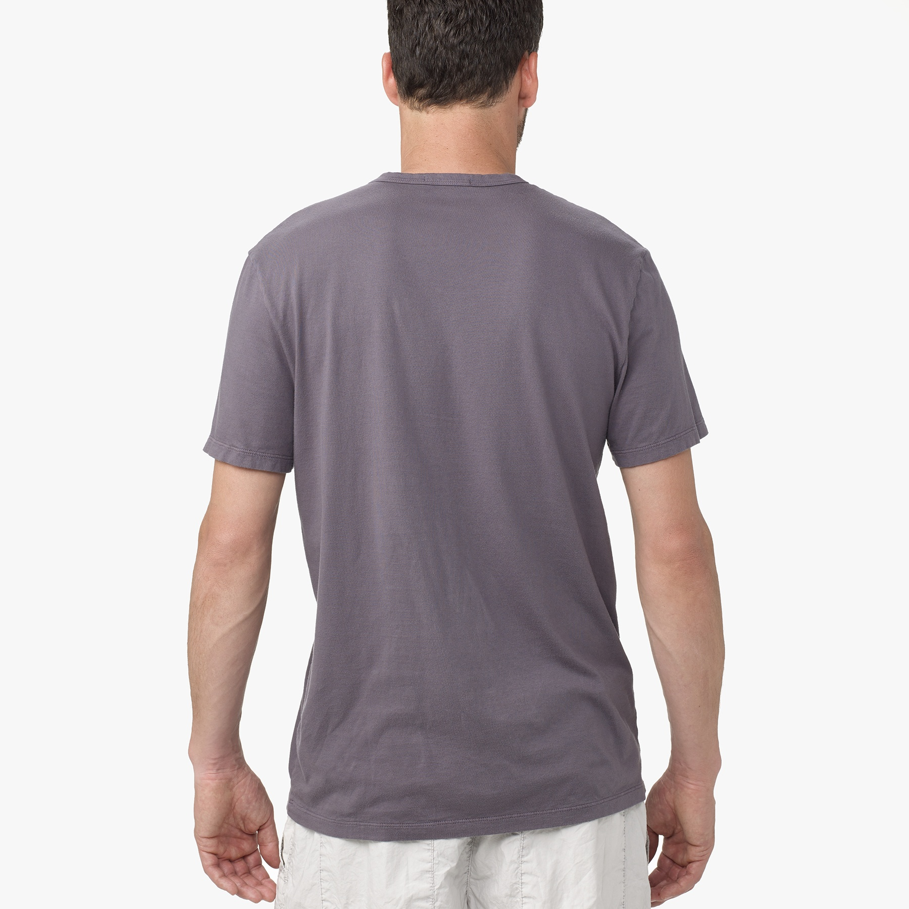 lyst james perse brushed cotton crew neck in blue for men