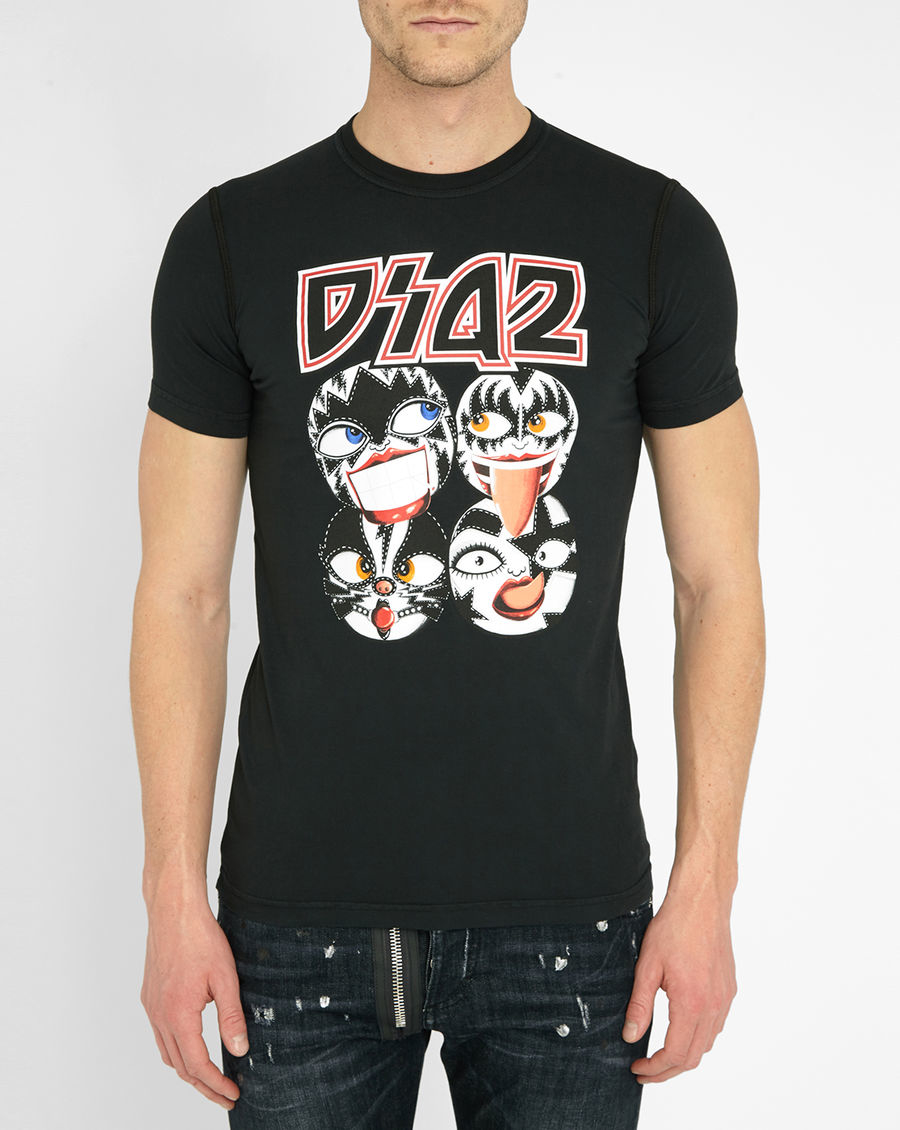 good dsquared2 kiss t shirt photos lrzo. Black Bedroom Furniture Sets. Home Design Ideas