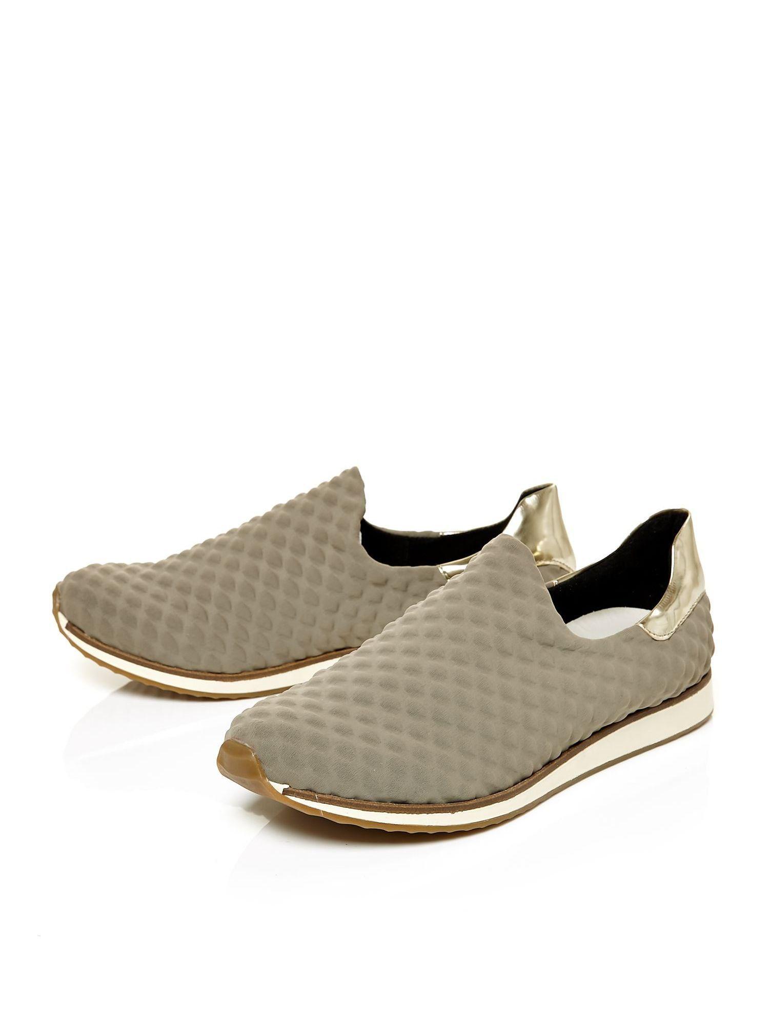 moda in pelle aleo slip on scuba style shoes in gray