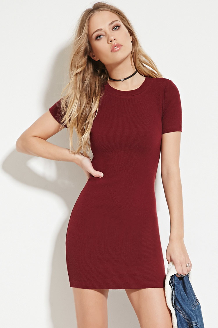 Jaquard Mini Dress - Burgandy Forever New Top Quality For Sale Order For Sale Very Cheap Price nxPt5A