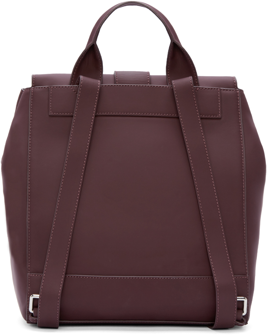 KENZO Plum Flap Backpack in Purple