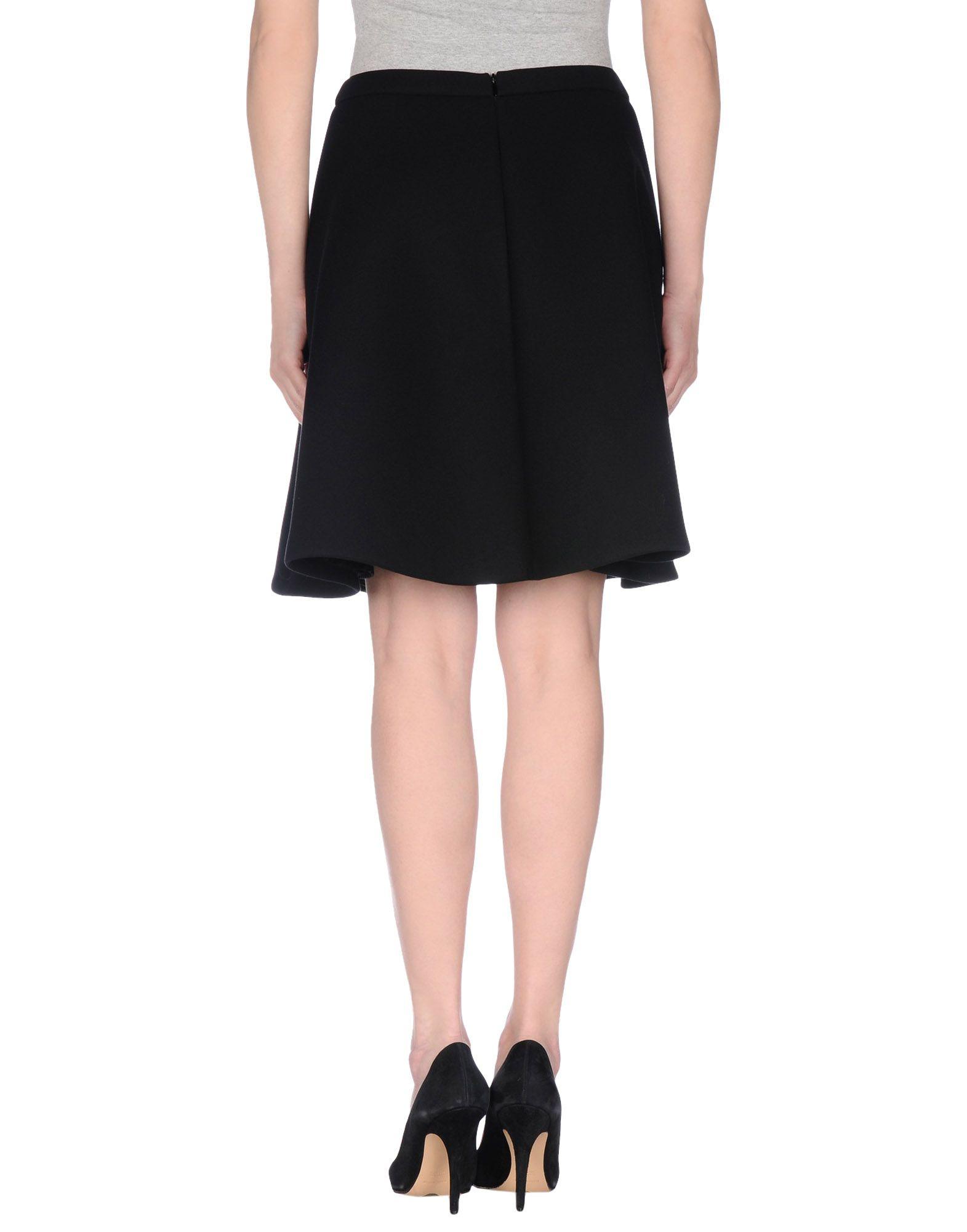 neil barrett knee length skirt in black lyst