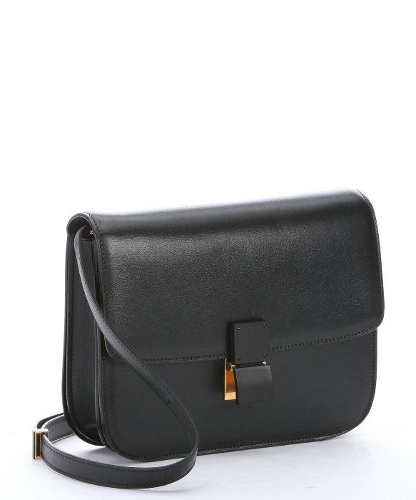 C¨¦line Black Leather Medium \u0026#39;classic Box\u0026#39; Shoulder Bag in Black | Lyst