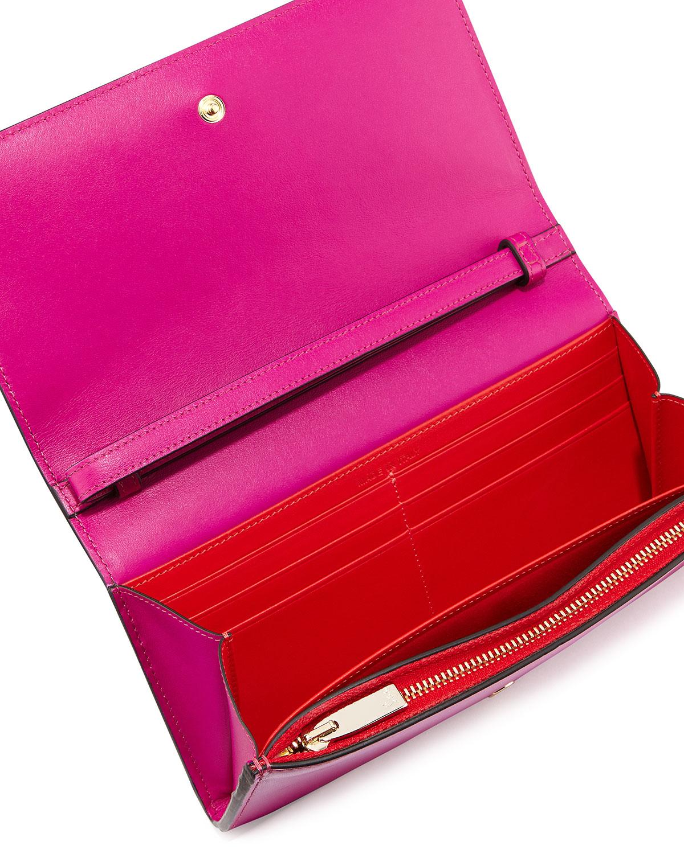 e3993d4327f Christian Louboutin Purple Macaron Spiked Flap Wallet
