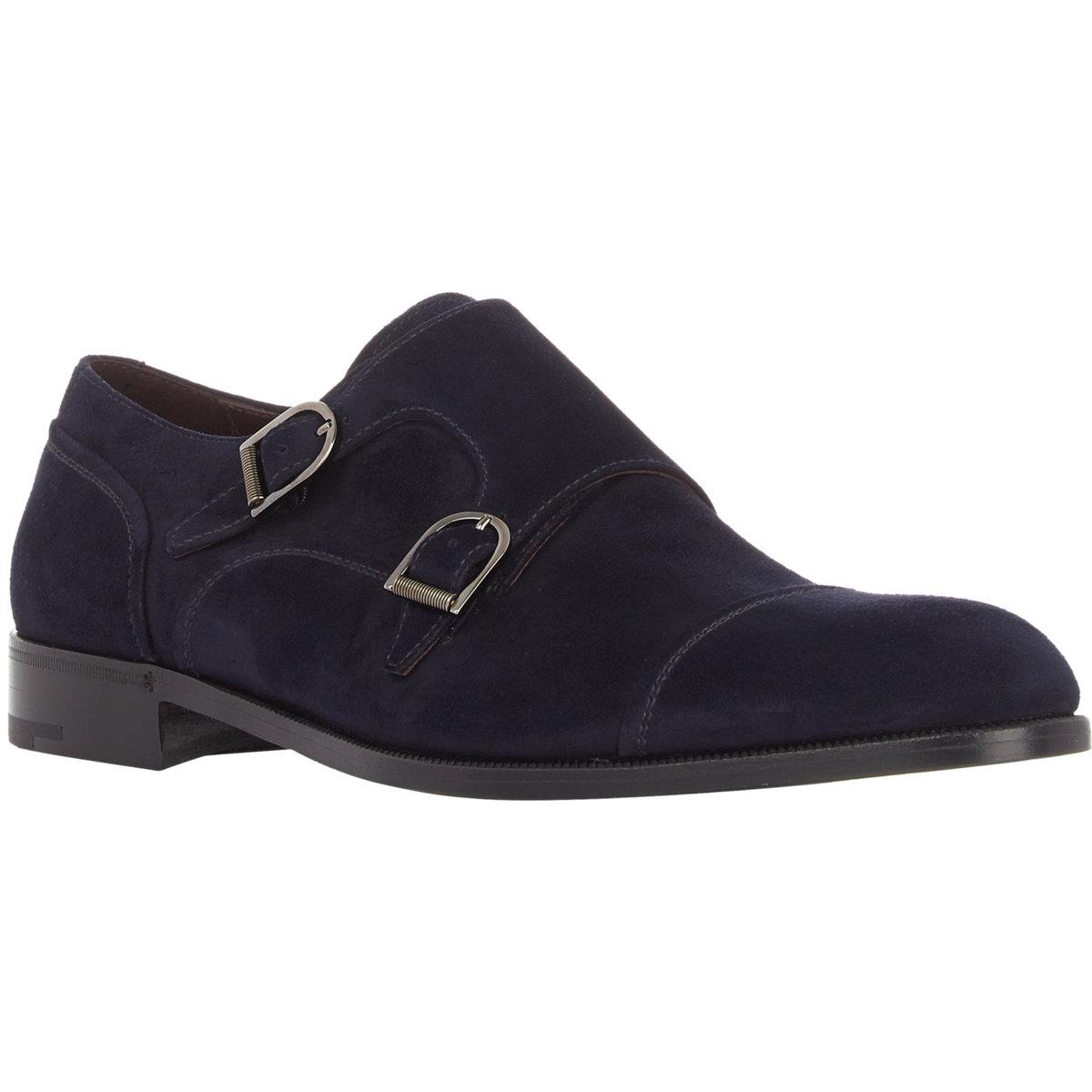 Ermenegildo zegna Cap-toe Double-monk Shoes in Blue for Men - Lyst