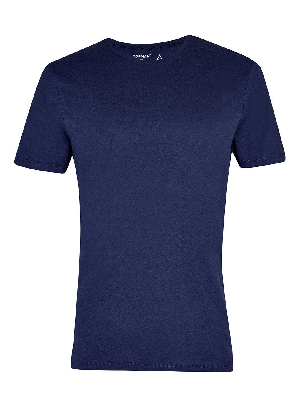 topman slim fit t shirt in blue for men lyst. Black Bedroom Furniture Sets. Home Design Ideas