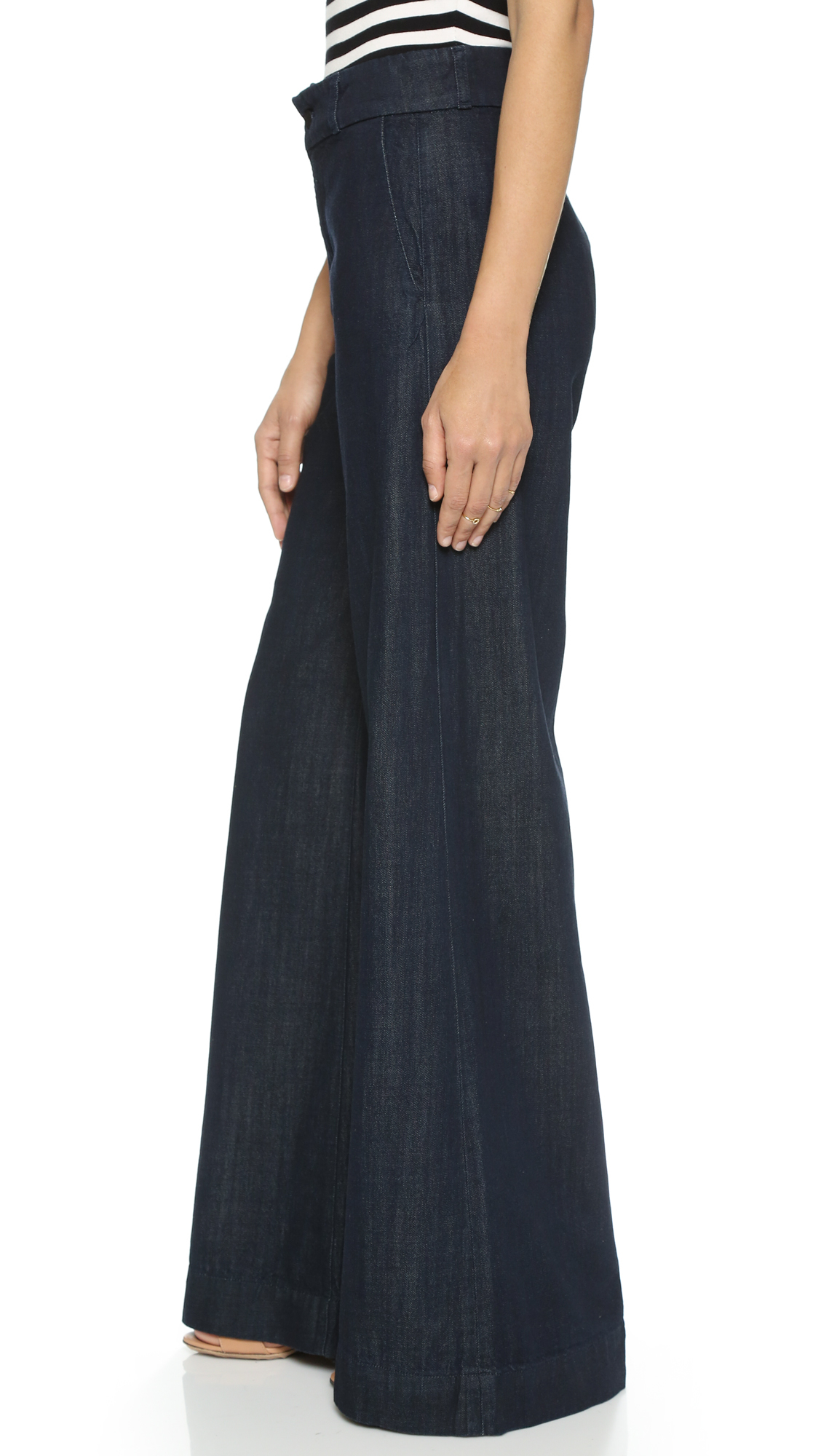 J brand Melody High Rise Wide Leg Jeans in Blue | Lyst