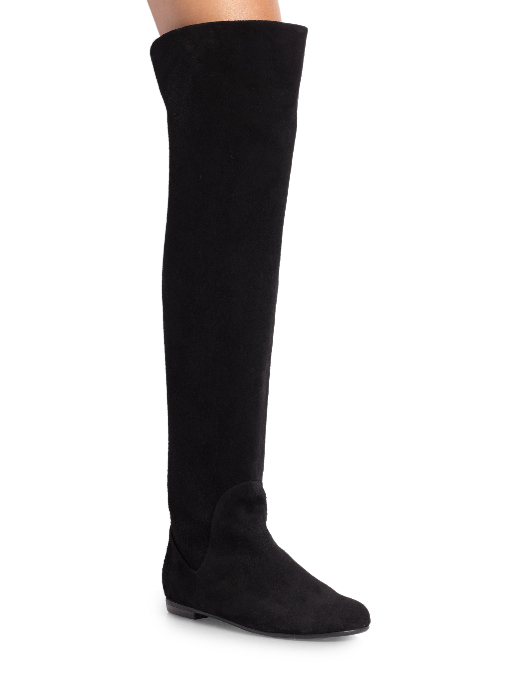 2b175a6dc5ff Lyst - Giuseppe Zanotti Suede Over-The-Knee Boots in Black