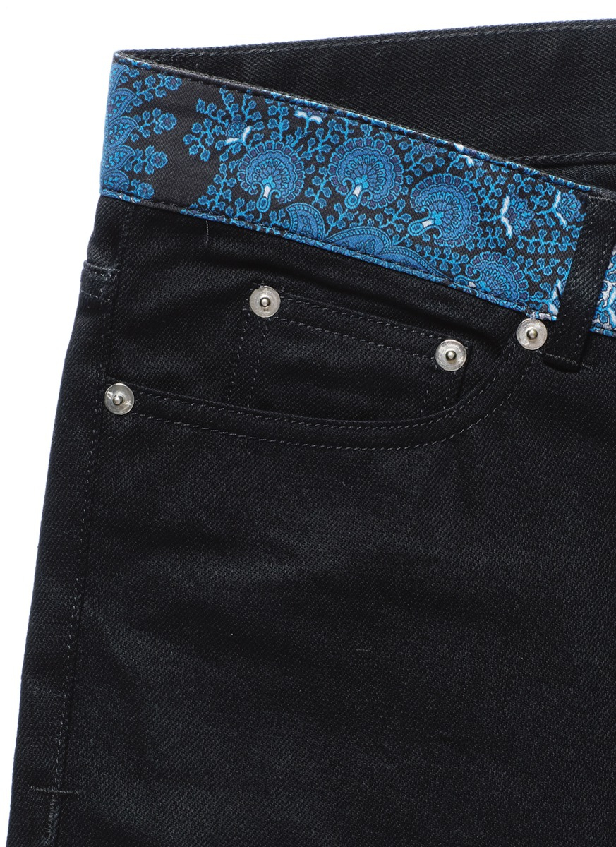 Givenchy Paisley Print Waistband Jeans in Black for Men