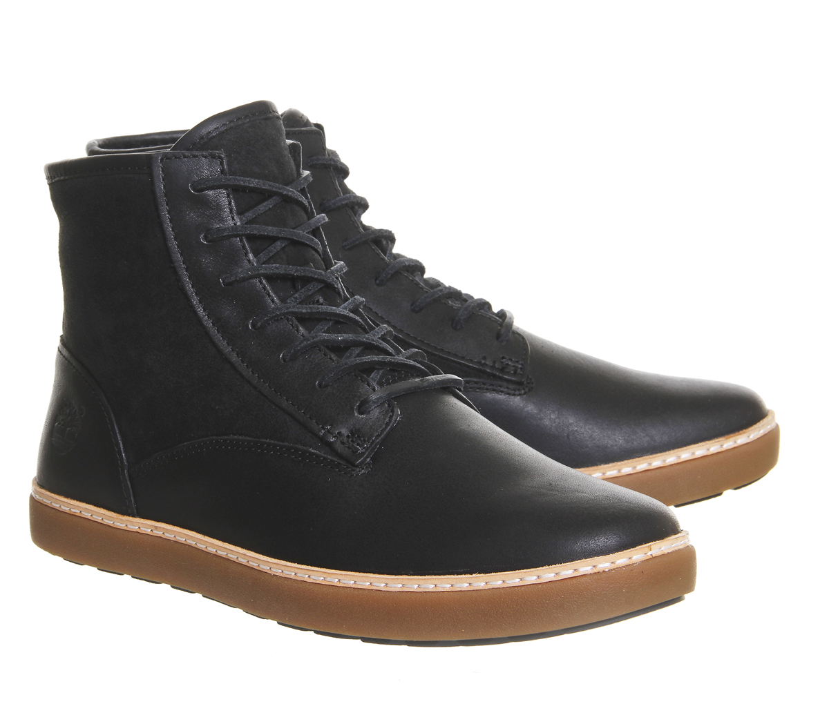 Timberland Black Leather Casual Shoes