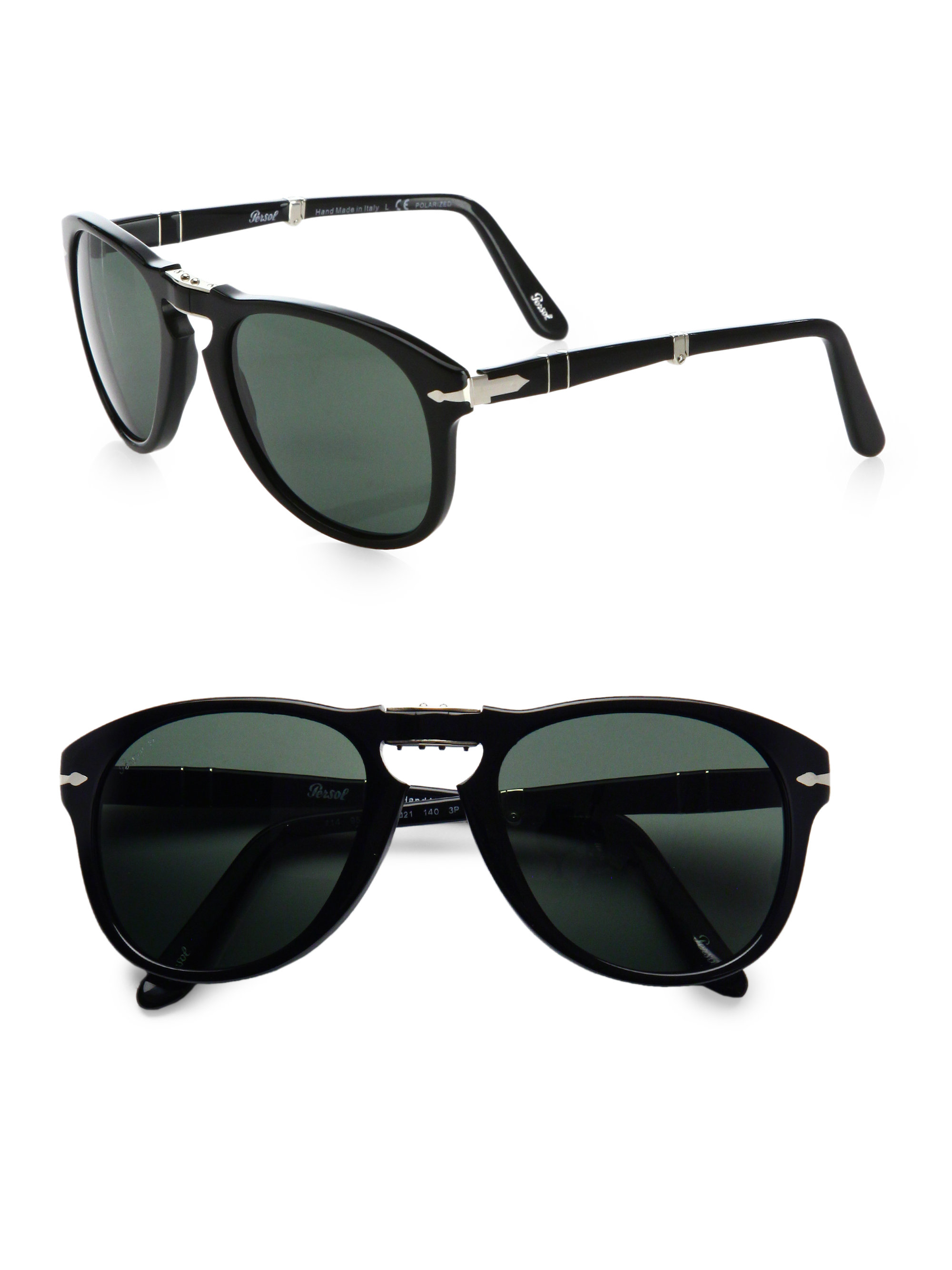 924542a7f0 Persol Vintage Folding Keyhole Sunglasses in Black for Men - Lyst