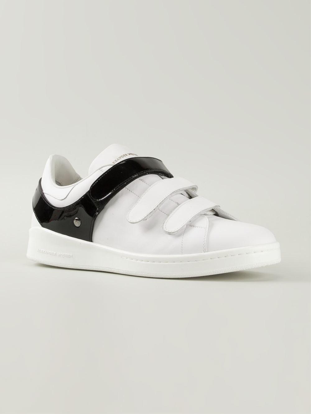 Alexander Mcqueen Velcro Sneakers in White for Men