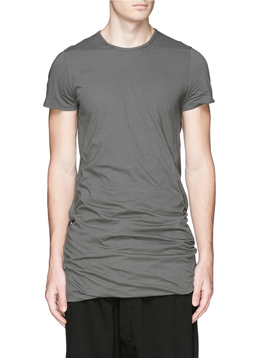Buy Cheap Looking For double layered T-shirt - Grey Rick Owens Fashionable Offer WWSfWcI