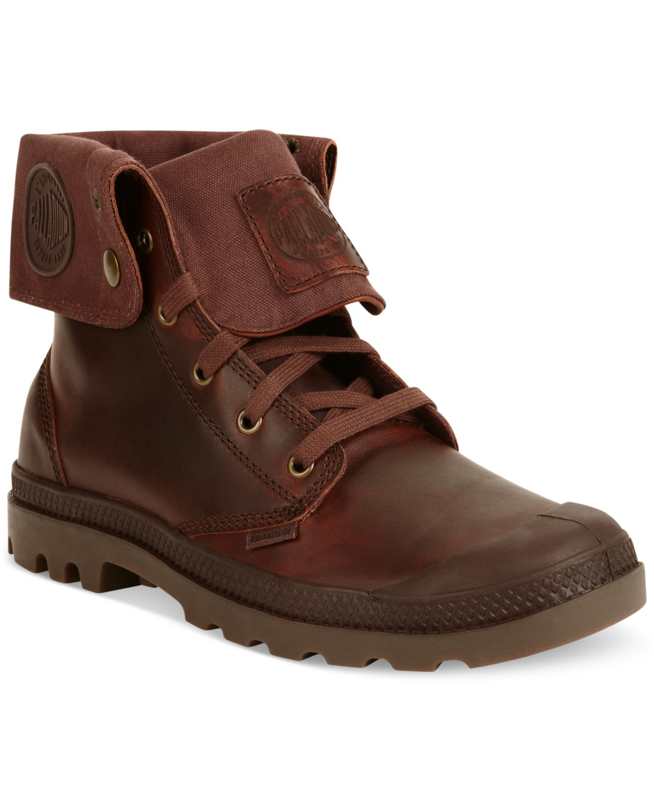 2476e122905 Palladium Brown Baggy Leather Boots for men