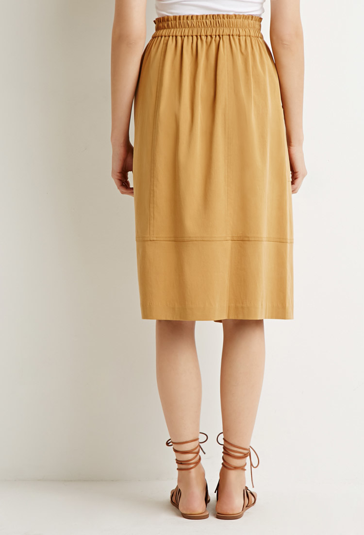 forever 21 front pockets a line skirt in lyst