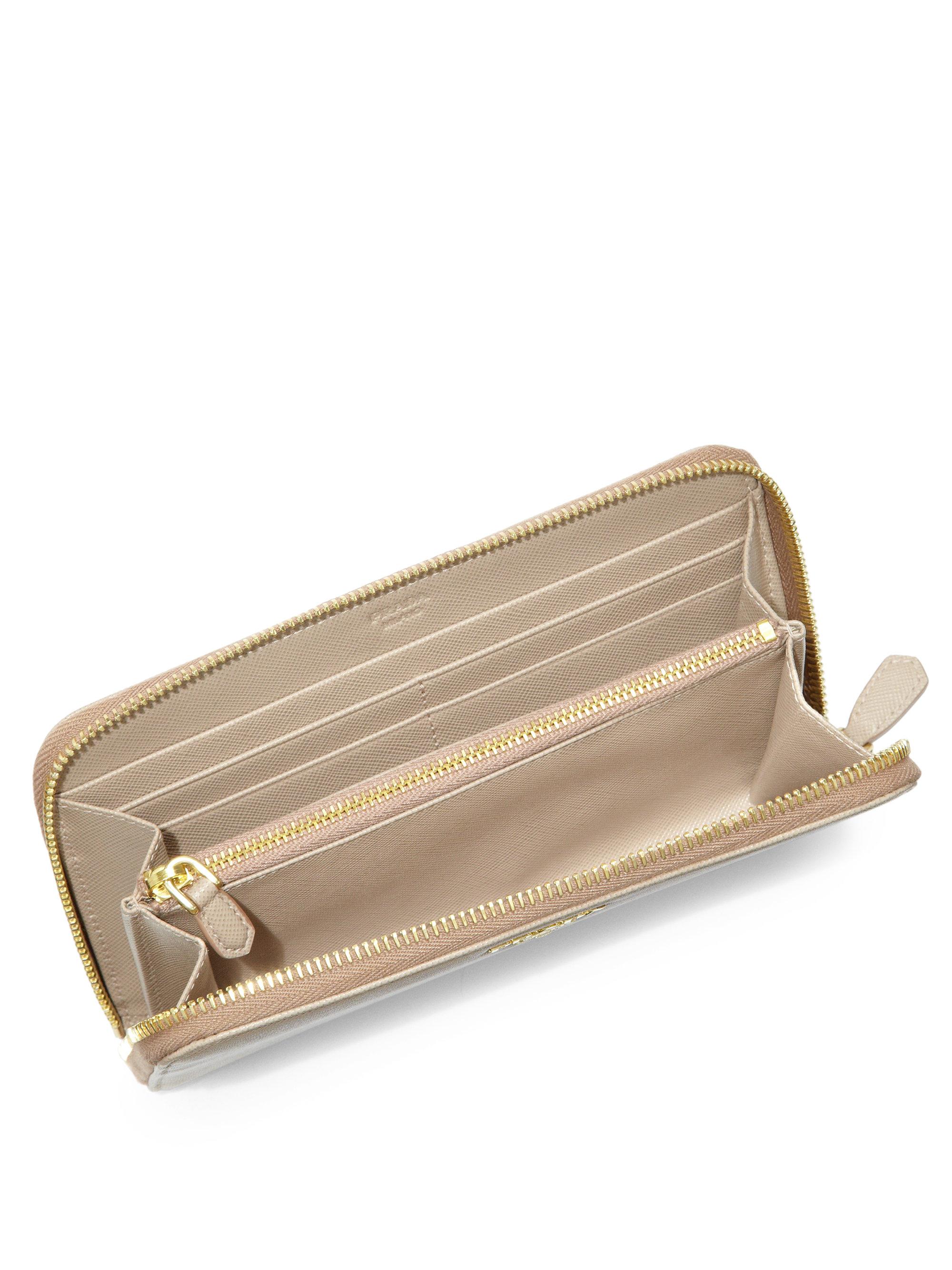 prada saffiano continental wallet large - prada saffiano bow continental wallet