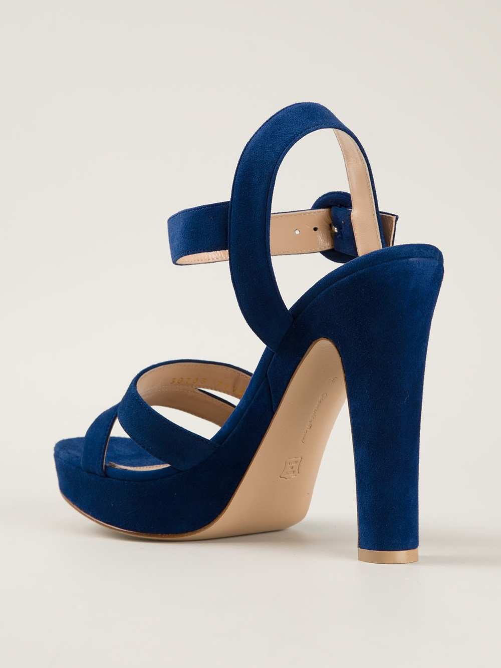 Gianvito rossi Chunky Heel Sandals in Blue | Lyst