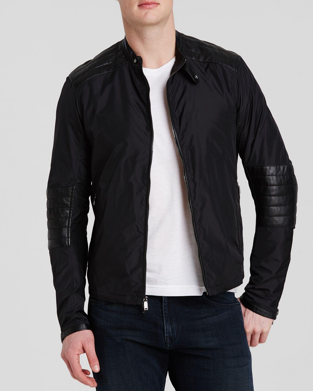 michael kors quilted moto jacket in black for men lyst. Black Bedroom Furniture Sets. Home Design Ideas