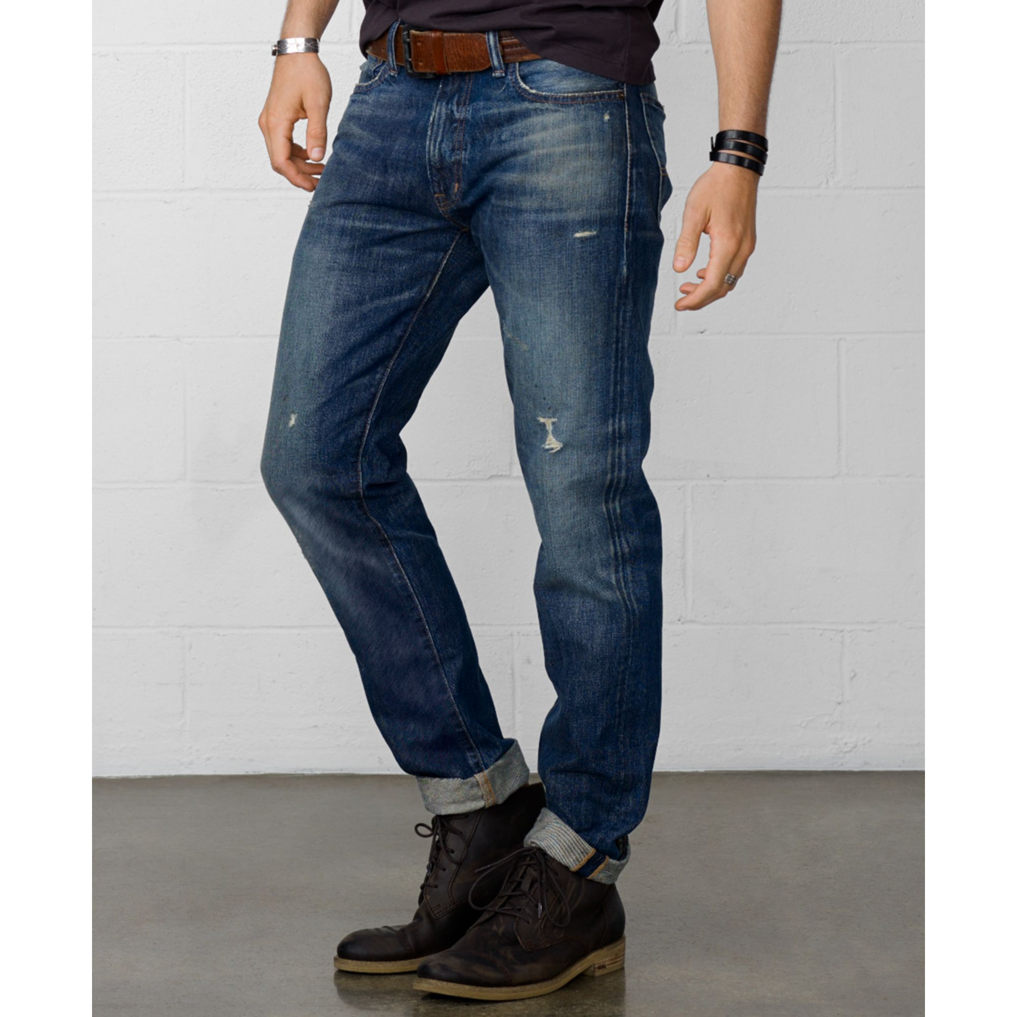 a5b5603b Denim & Supply Ralph Lauren Slim Fit Tuscan Tapered Jeans in Blue ...