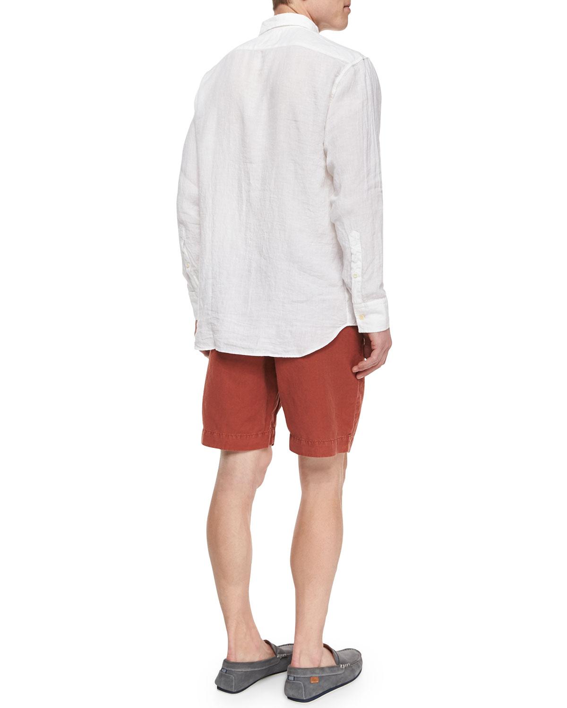 Lyst Billy Reid Jonathon Solid Long Sleeve Linen Shirt