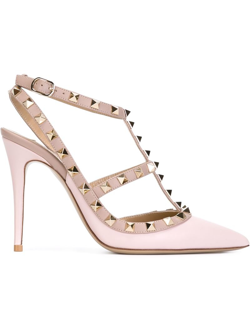 valentino rockstud pumps pink