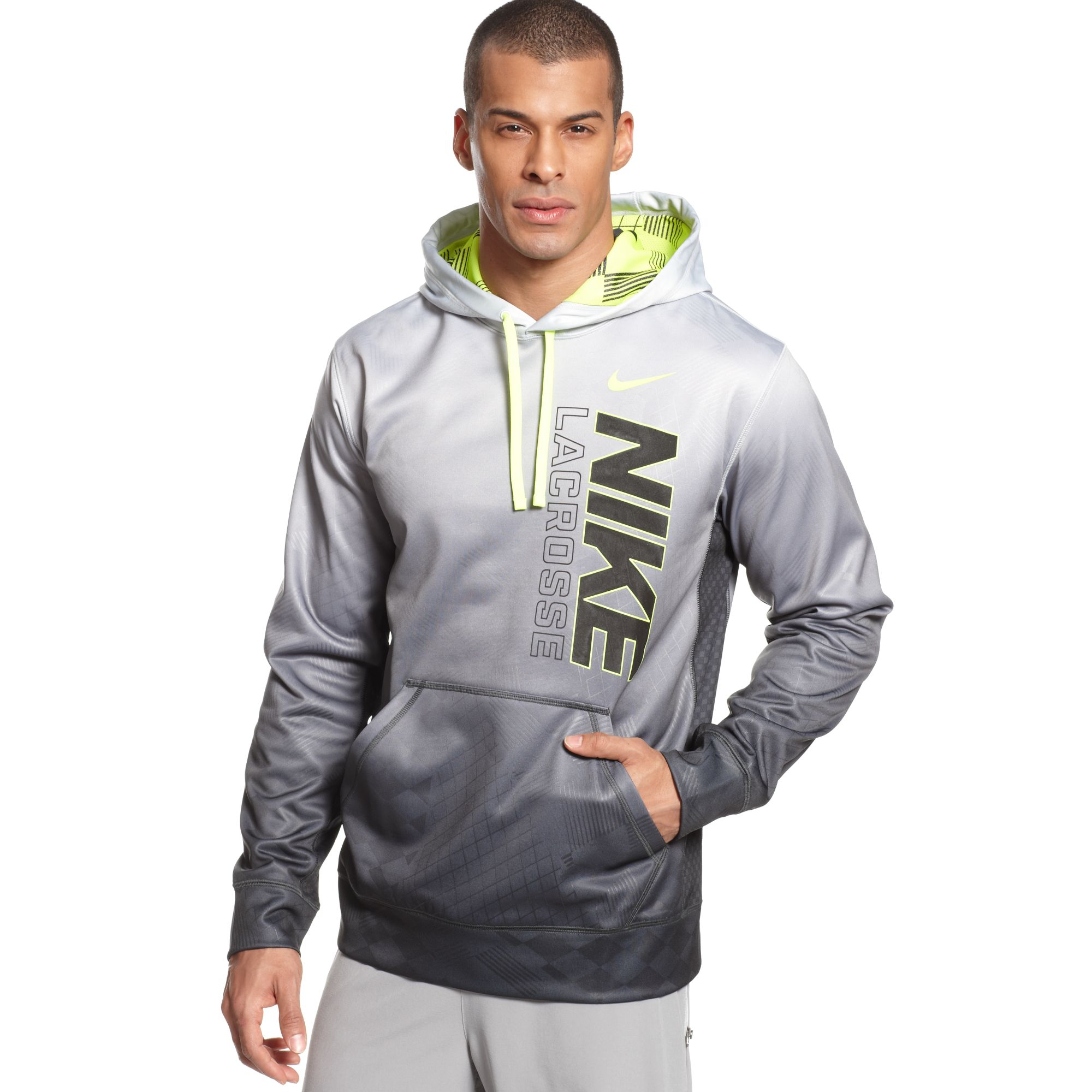 Lyst - Nike Lacrosse Printed Hoodie in Gray for Men 1914ebf92