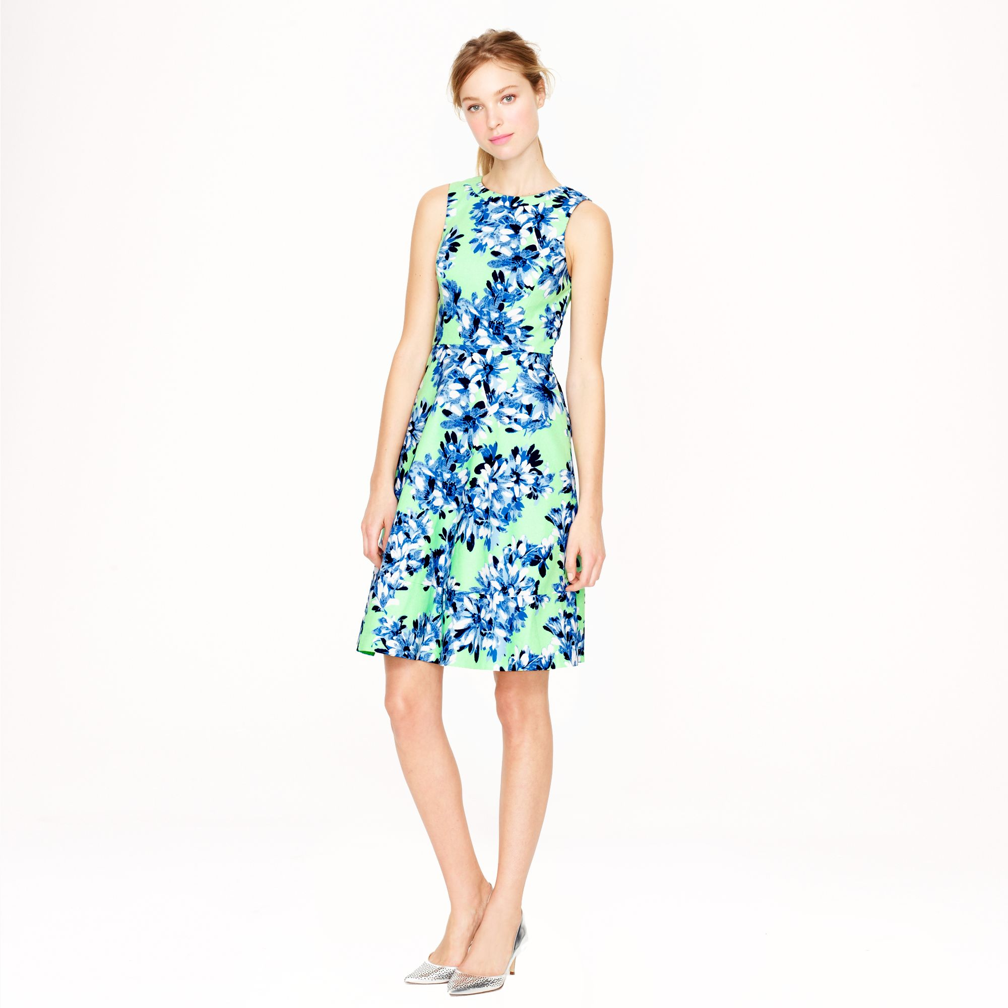 Wonderful Crew Collection Appliqud Dot Dress In Blue  Lyst