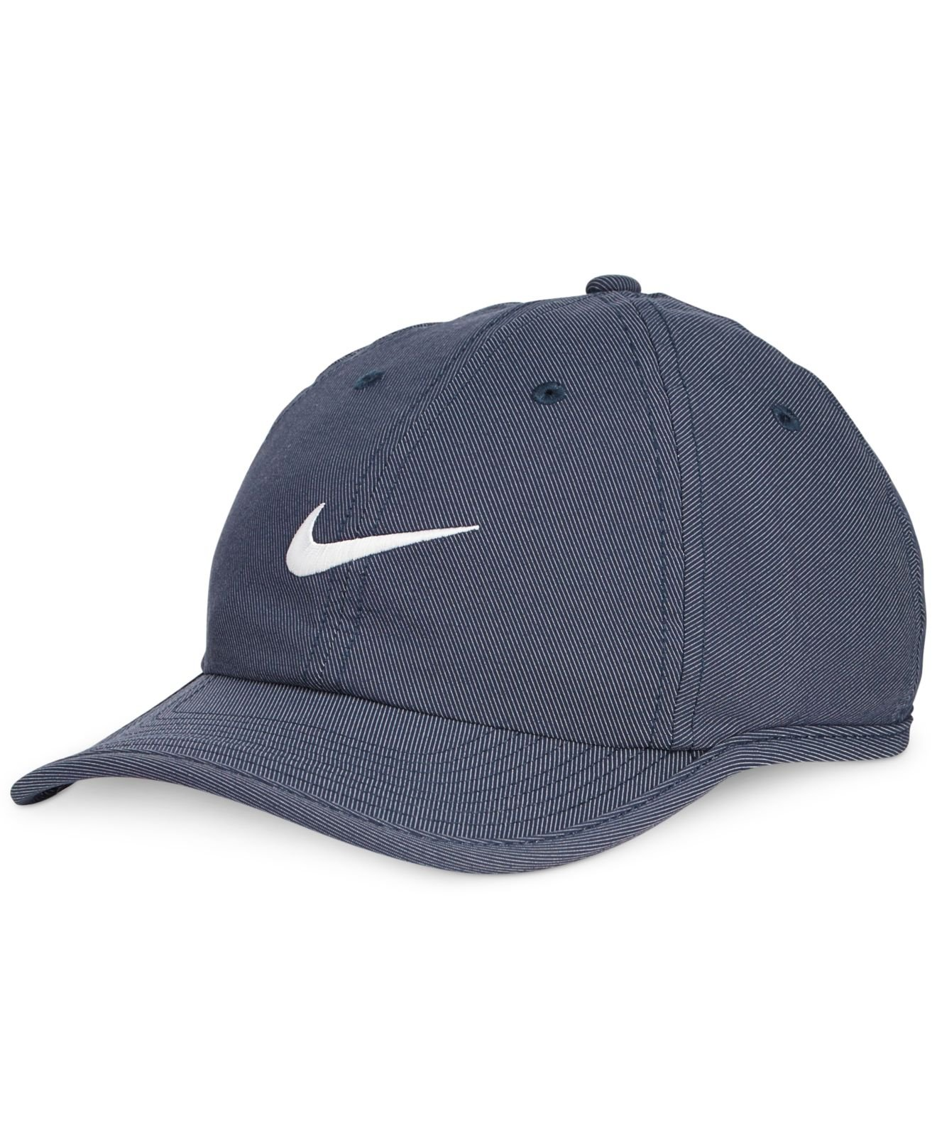 nike heritage dri fit twill hat in blue for obsidian
