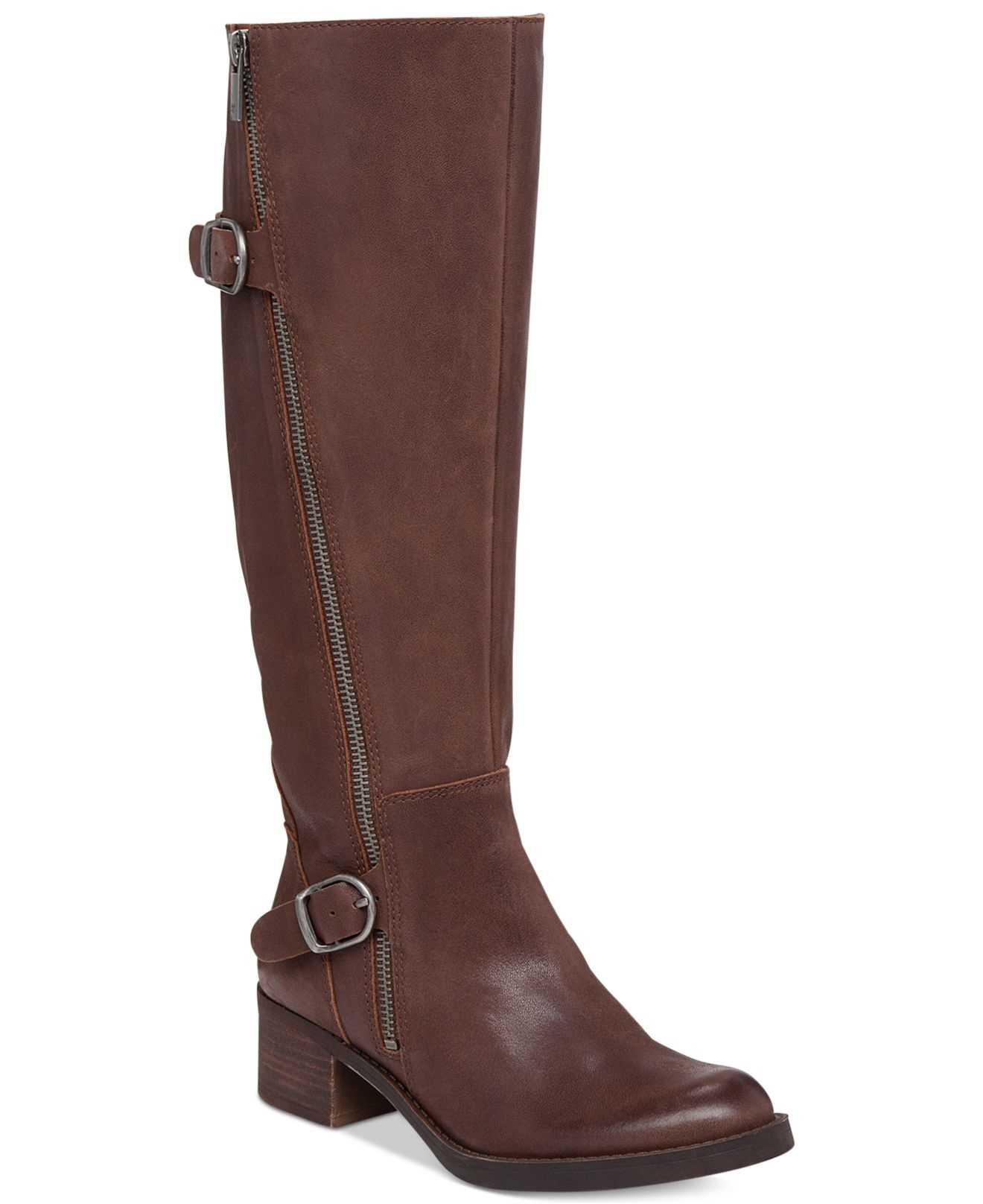 lucky brand s hoxy shaft boots in brown