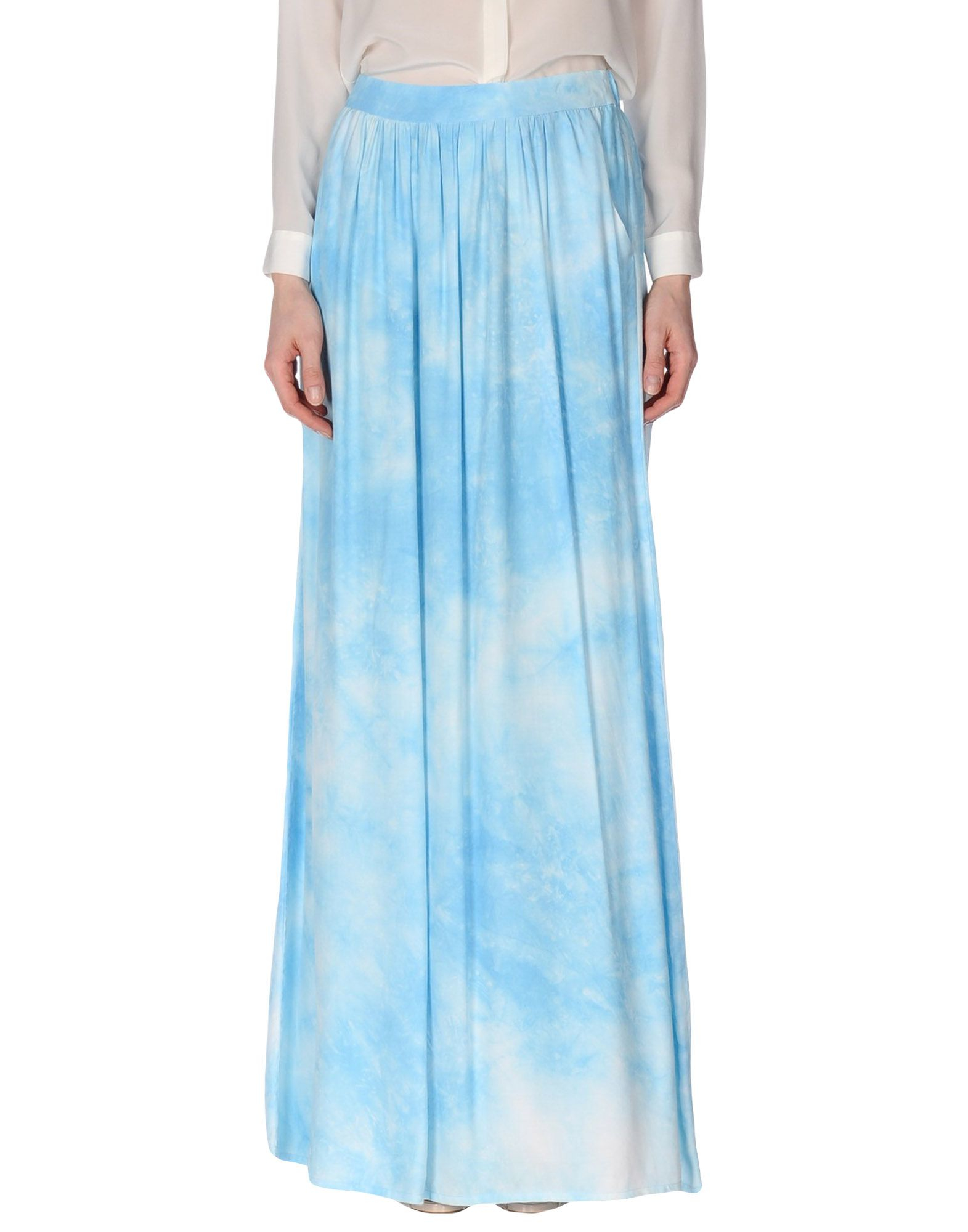 guess skirt in blue sky blue lyst