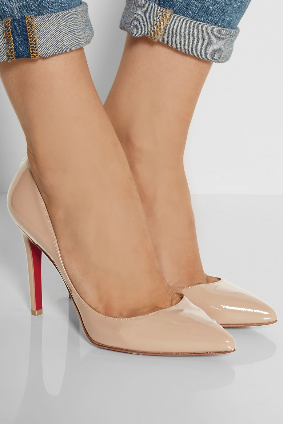 christian louboutin pigalle follies 100 patent pink pump