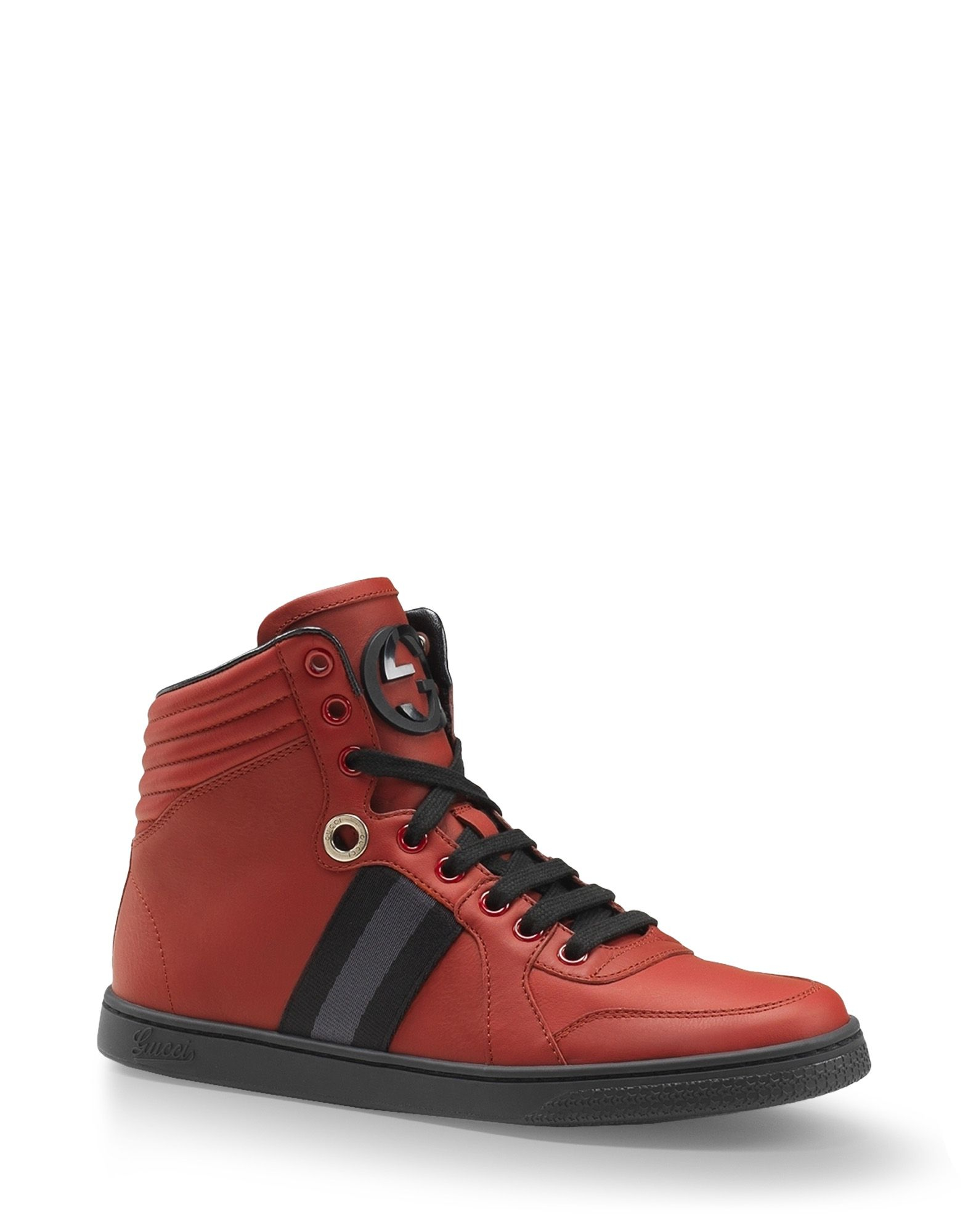 gucci high top sneakers in red lyst. Black Bedroom Furniture Sets. Home Design Ideas