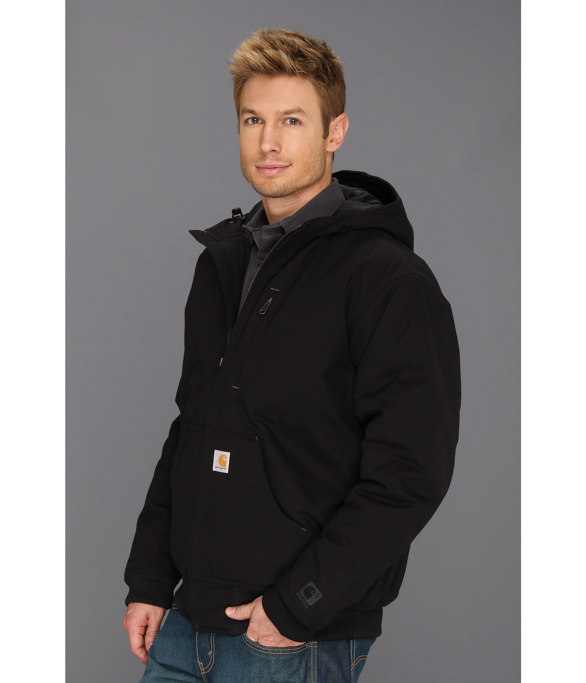Carhartt Quick Duck Woodward Active Jacket Tall in Black ...