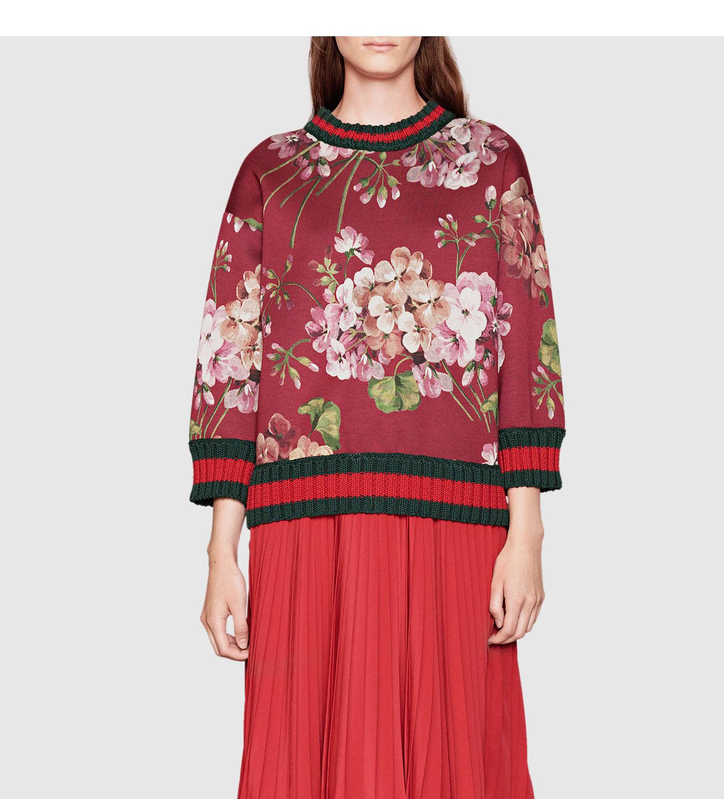 Gucci Blooms Print Jersey Sweatshirt - 1045.3KB