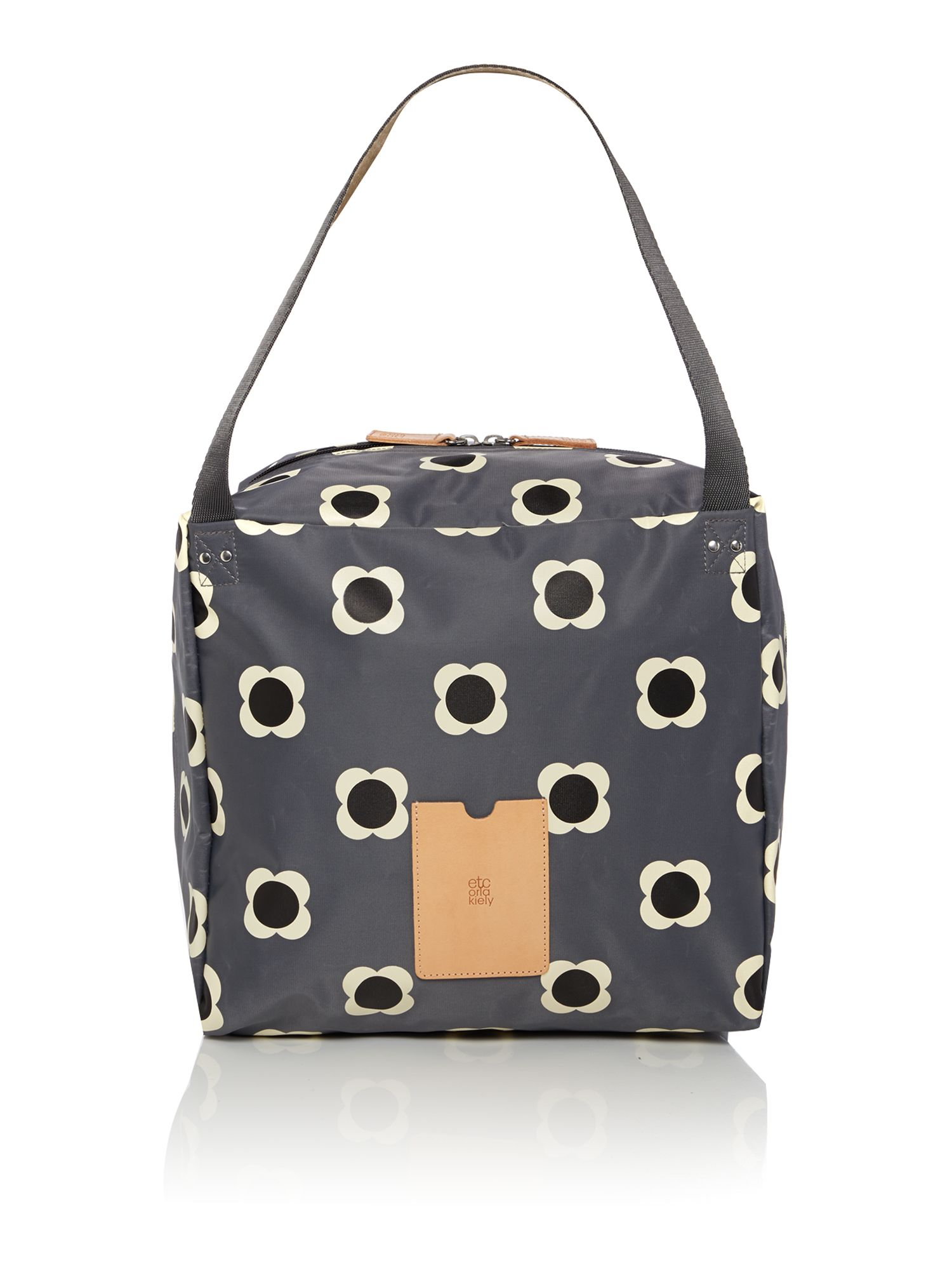 orla kiely flower spot grey large tote bag in gray lyst. Black Bedroom Furniture Sets. Home Design Ideas