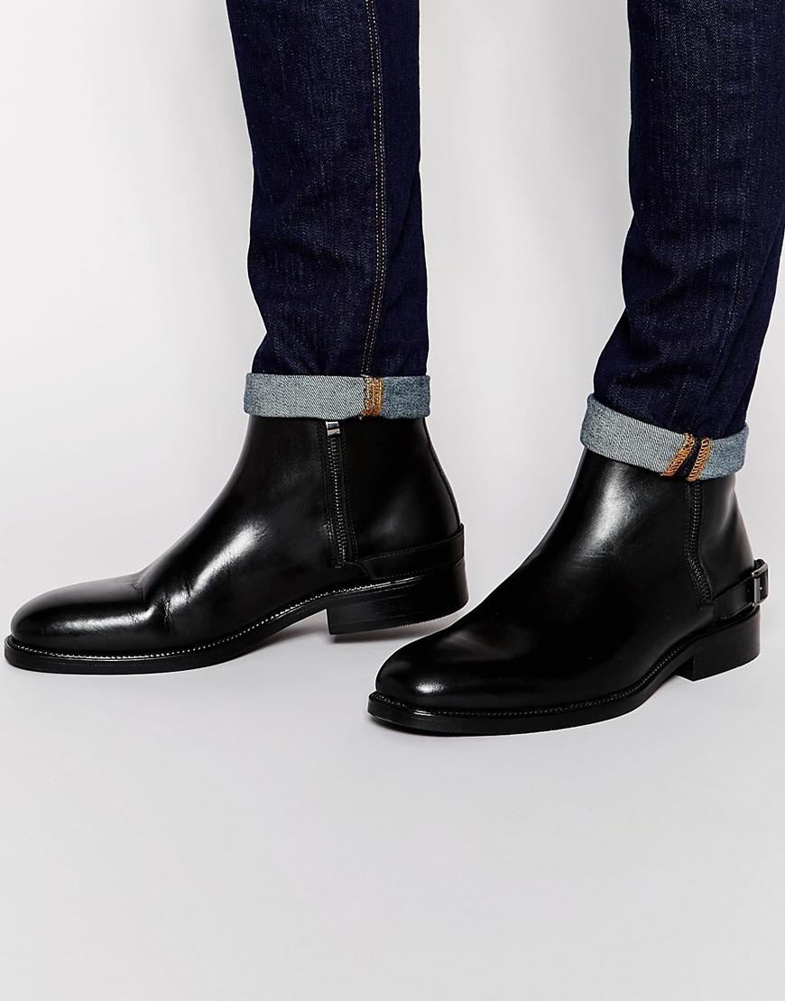 Mens Gucci Black Double Zip Shoes